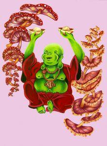 """Happy Buddha (Pink)"""