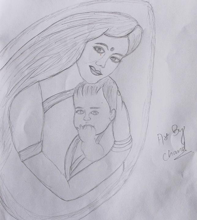 Sketch of mother's selfless love - chandrika menon mohandas nair