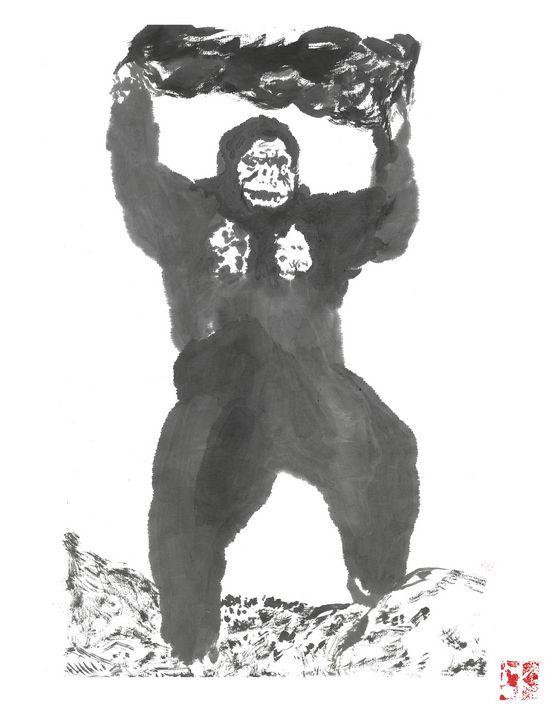 Toho Kong Sumi-e' - Mike's Kaiju Art Gallery