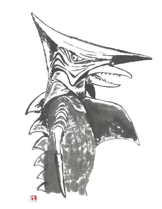 Zigra Sumi-e' - Mike's Kaiju Art Gallery