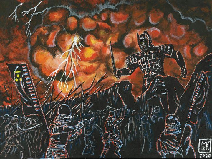 Daimajin Painting - Mike's Kaiju Art Gallery