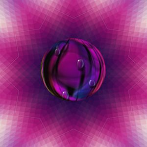 Pink Glass  kaleidoscope- Abstract