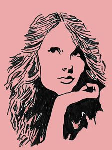 Taylor Swift pop art pink