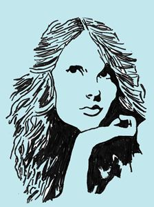Taylor Swift pop art blue
