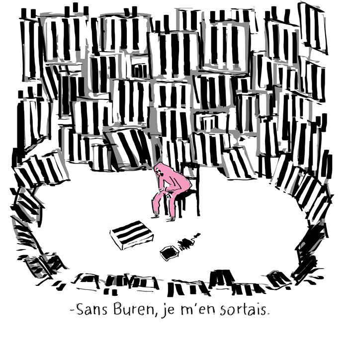 Daniel Buren - monsieur Rose