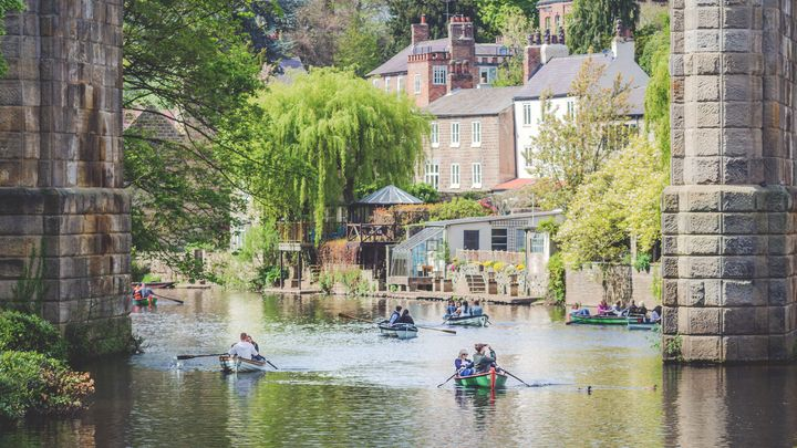 Boating on the lake Knaresborough - iamgprk