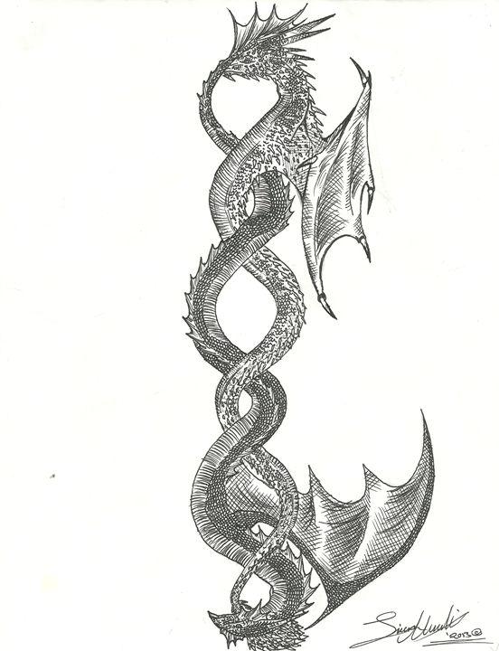 Intertwined Dragons - SDU Art