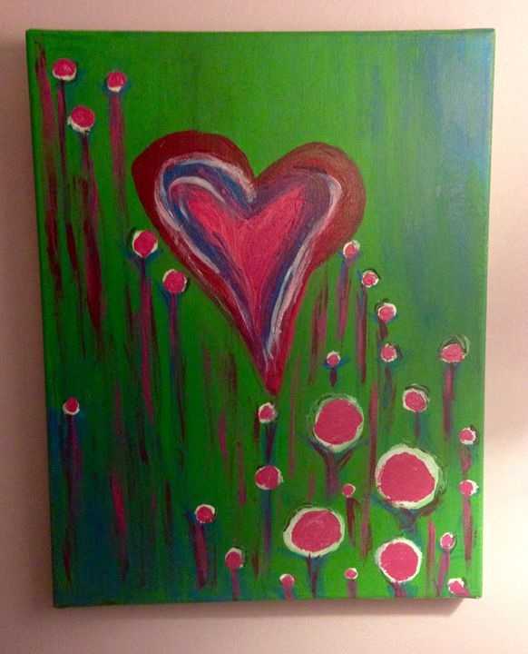 Abstract heart - Ambers Paintings