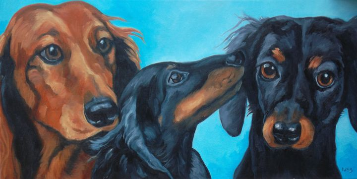 Doxie Pals Portrait Example - RKIves