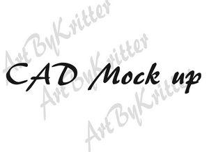 Custom CAD Fashion Mock ups - ArtByKritter
