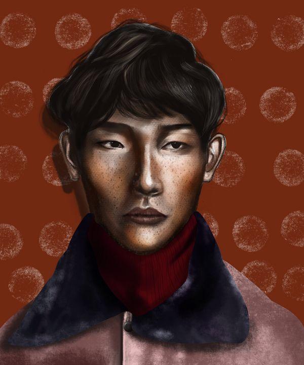 Retro | Male Portrait - Wallflower Workshop Art
