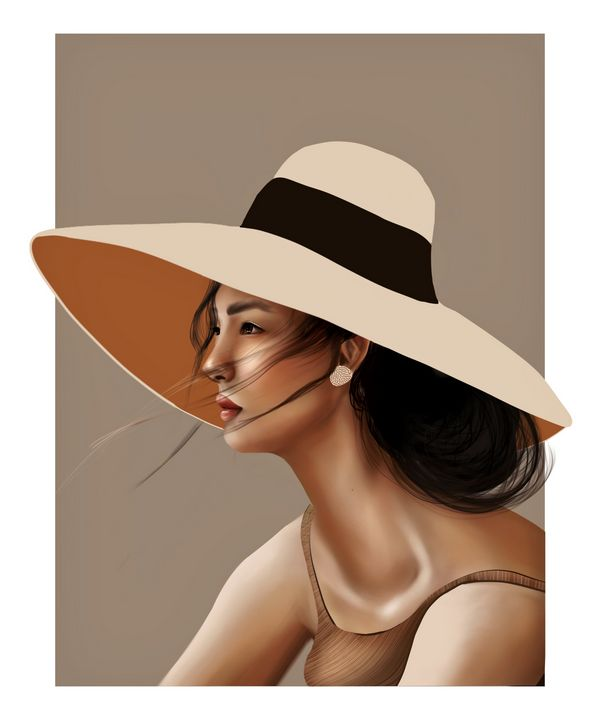 Sun   Female Portrait - Wallflower Workshop Art