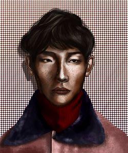 Male Portrait | Polka Dots
