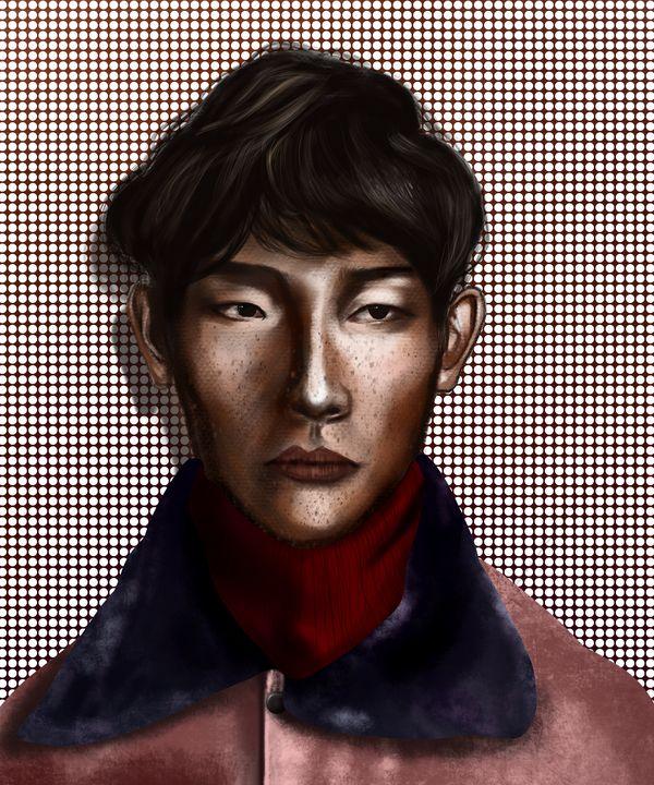 Male Portrait | Polka Dots - Wallflower Workshop Art
