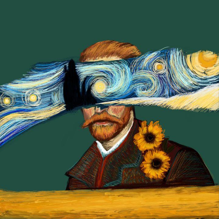 Starry Eyed | Van Gogh Portrait - Wallflower Workshop Art