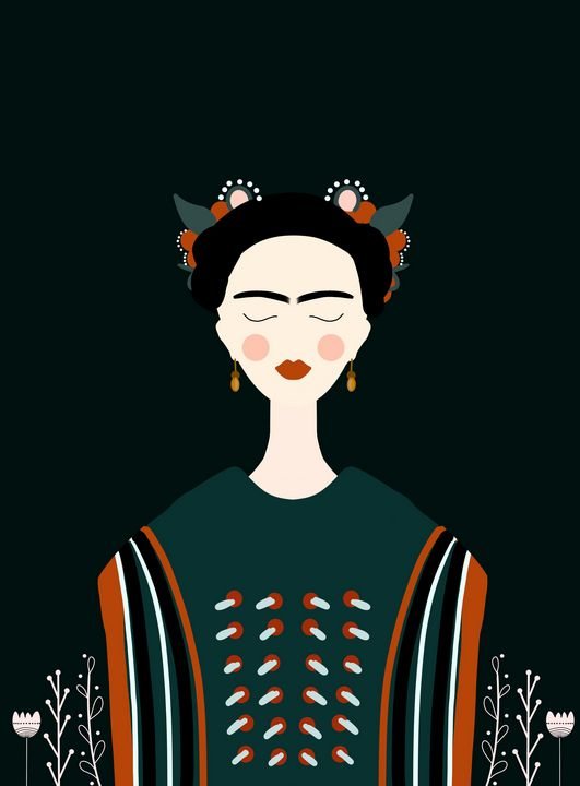Fräulein Frida | Female Portrait V1 - Wallflower Workshop Art
