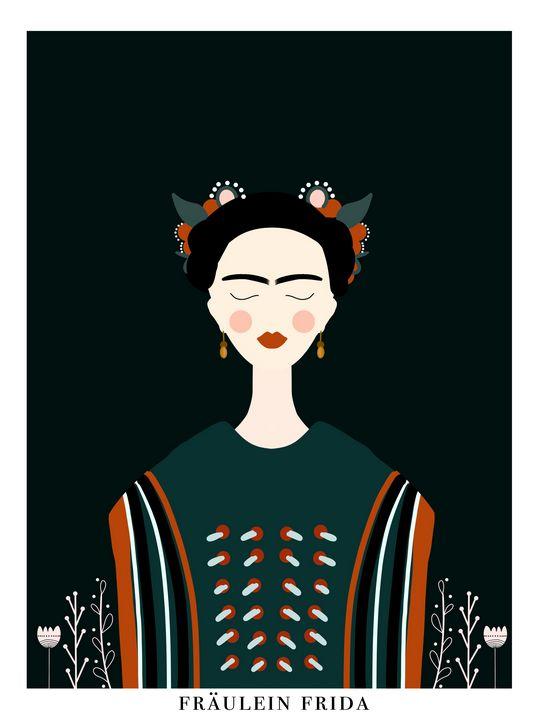 Fräulein Frida | Female Portrait V2 - Wallflower Workshop Art