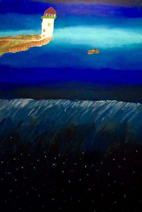 Lighthouse Reflections - Brian's Art Studio