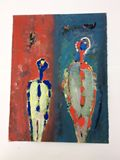 Original Mixed Media Painting on Fin