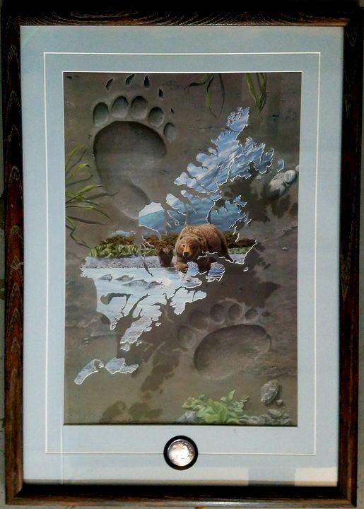 Kodiak Bear and an inserted coin - Tezella