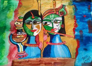 Eternal love. radha krishna (hindu l