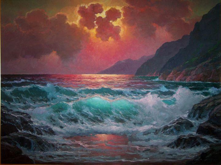 """Sunset at Big Sur"" - Alexander Dzigurski II"