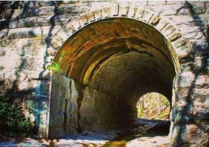 Tunnel under railroad