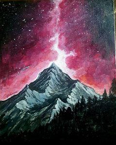 Mountain on glare