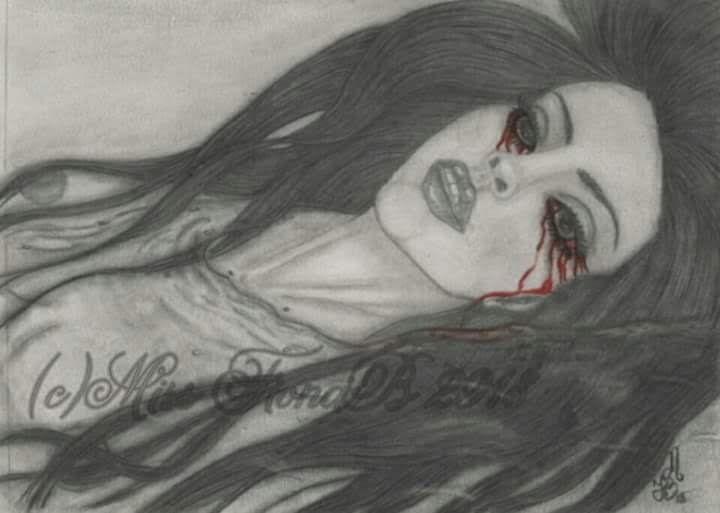 Drowning in Tears - Miss FionaB Fantasy Artwork