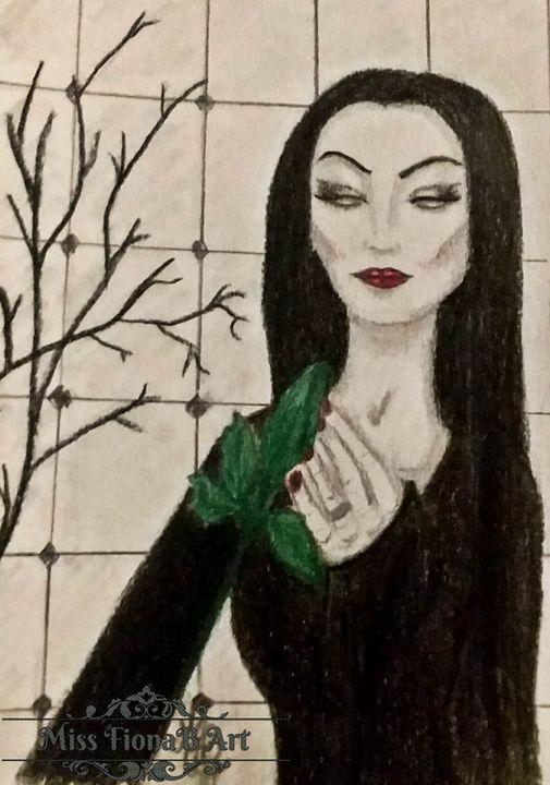 Mortica Adams' Rose - Miss FionaB Fantasy Artwork