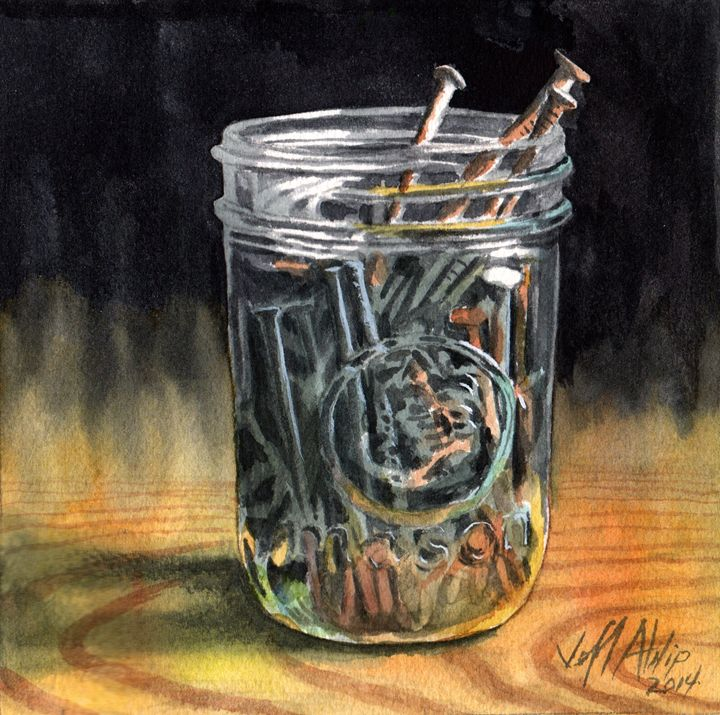 Jar of Nails - Jeff Atnip Art