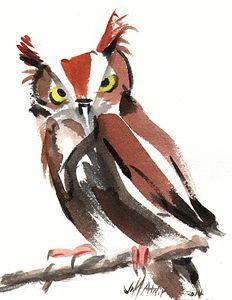 A Nice Owl - Jeff Atnip Art