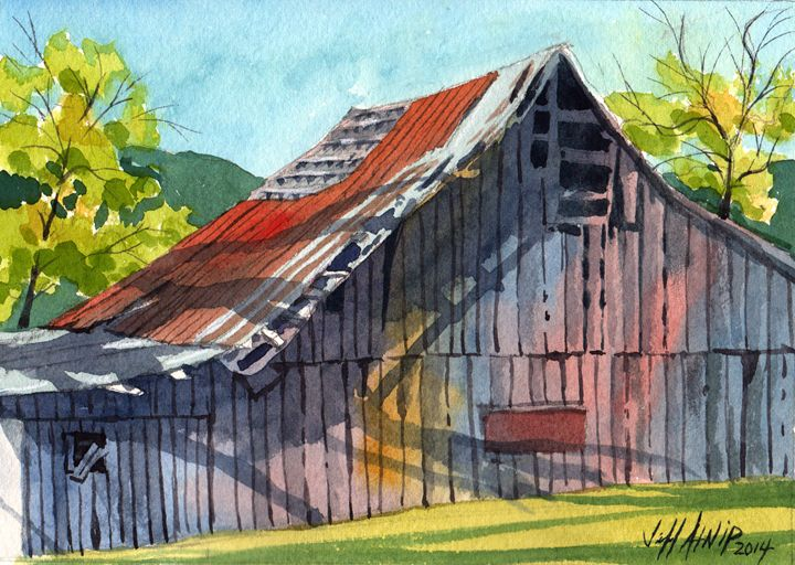 Behind The Barn - Jeff Atnip Art