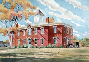 Moore County Courthouse - Jeff Atnip Art