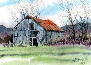 Gray Barn - Jeff Atnip Art