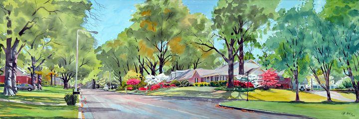 Springtime On Surrey Lane - Jeff Atnip Art
