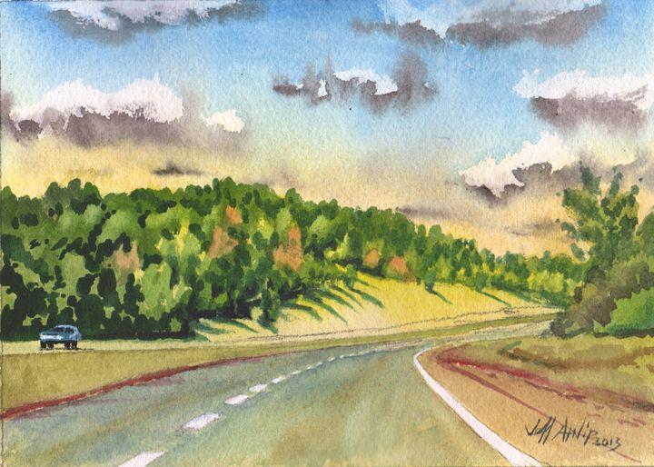 Highway 40 Blues - Jeff Atnip Art