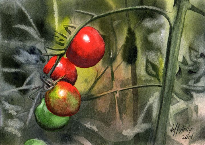 Cherry Tomatoes - Jeff Atnip Art