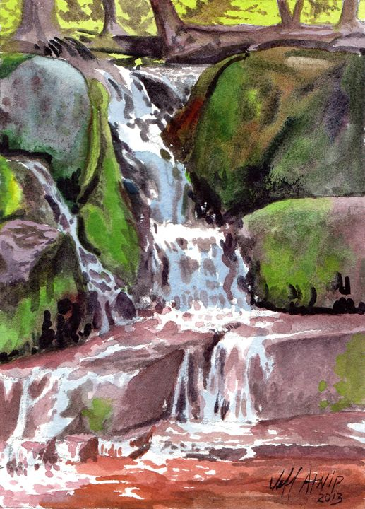 Small Cascade, Algonquin - Jeff Atnip Art