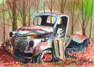 Truck In The Woods - Jeff Atnip Art