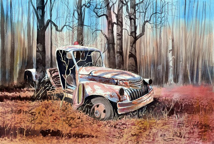 Truck In the Woods No. 2 - Jeff Atnip Art