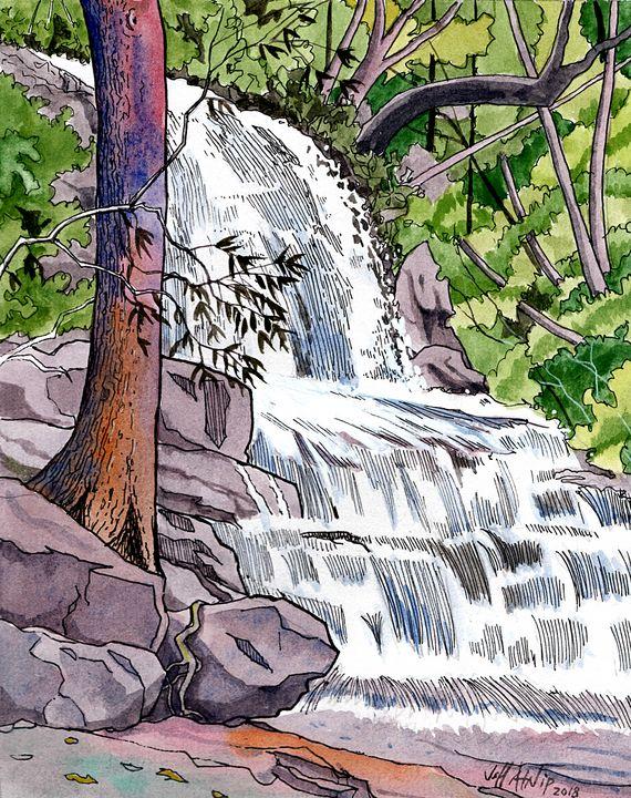 Laurel Falls - Smoky Mountains - Jeff Atnip Art