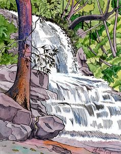 Laurel Falls - Smoky Mountains - Jeff Atnip Art
