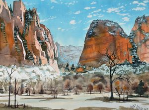 Angels Landing View - Jeff Atnip Art
