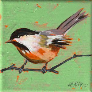 Chuck the Chickadee - Jeff Atnip Art