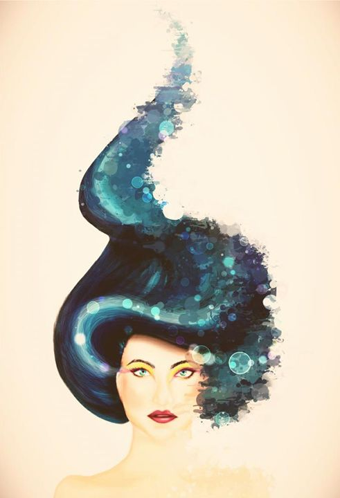 The girl with the blue hair - Digital Princess