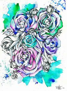 Girls rose flower
