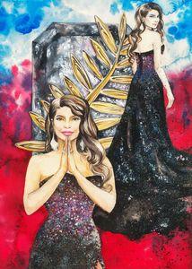 Priyanka Chopra. Fashion illustratio