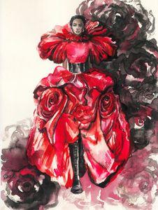 Dress rose. Alexander McQueen
