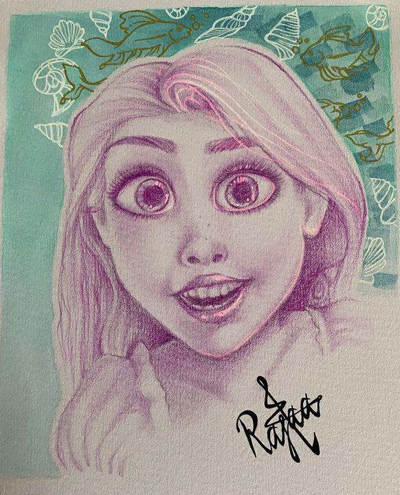 Rapunzel fan art (print) - R_Creative artist 01